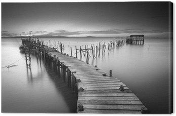 En fredelig gammel havn Fotolærred