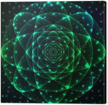 Sacred geometry symbol. Mandala mysterium element Fotolærred