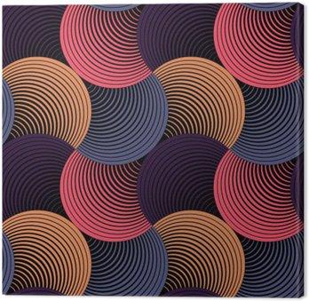 Udsmykkede geometriske kronblade, abstrakt vektor sømløs mønster Fotolærred