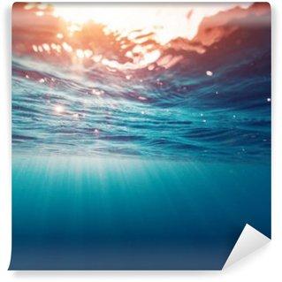 Fotomural de Vinil Azul mar