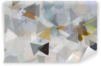Fotomural de Vinil Geometric shapes illustration. Brush paint pattern.