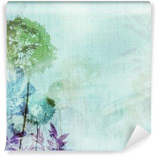 Fotomural de Vinil grunge background with dandelions