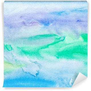 Fotomural Lavável color strokes watercolor painting art