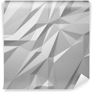 Fotomural Lavável Fundo branco abstrato low poly