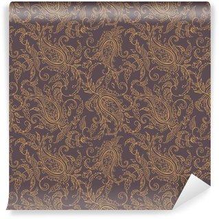 Fotomural Lavável Tecido de paisley padrão sem emenda oriental