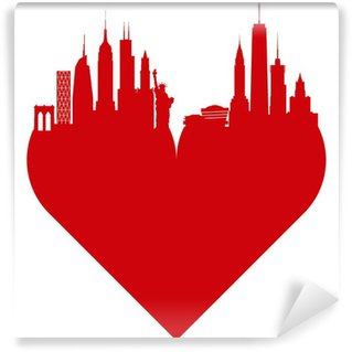 Fotomural de Vinil New York love heart. I love New York.