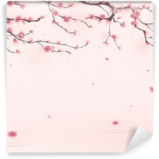 Fotomural de Vinil oriental style painting, cherry blossom in spring