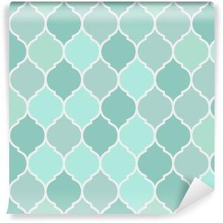Fotomural Pixerstick Azulejos padrão de turquesa sem emenda, vetor