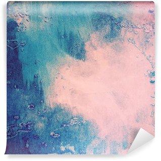 Fotomural de Vinil Rosa e fundo abstrato azul