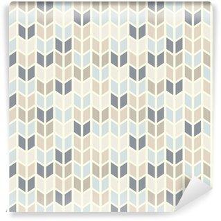 Fotomural de Vinil Seamless geometric pattern in pastel tints