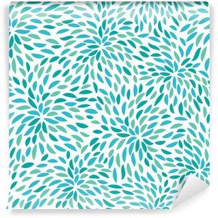 Fotomural de Vinil Vector flower pattern. Seamless floral background.