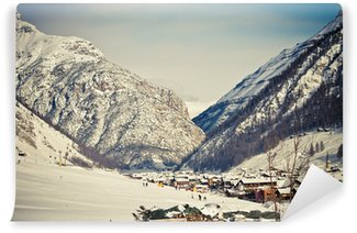 Fotomural de Vinil Winter & Alps (Livigno & Foscagno)