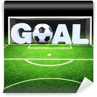 Fotomural Estándar 3d meta con balón de fútbol en el estadio