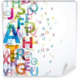 Fotomural Estándar Abstract Color alfabeto en el fondo blanco # Vector