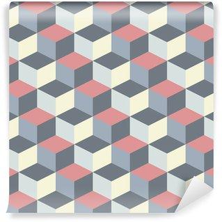 Fotomural Estándar Abstracto cúbicos de fondo patrón geométrico
