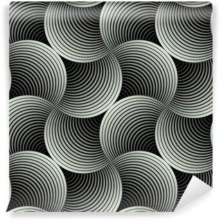 Fotomural Estándar Adornado geométrica Pétalos de cuadrícula, Extracto Modelo inconsútil del vector