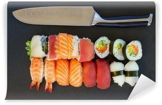 Fotomural Estándar Almuerzo con plato de sushi