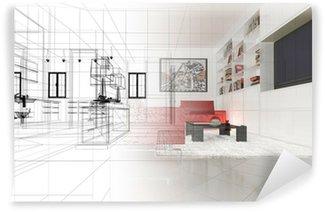 Fotomural Estándar Apartamento, proyecto 3D, interior