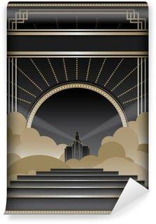 Fotomural Estándar Art Deco Antecedentes y marco