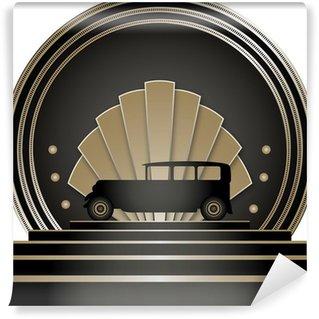 Fotomural Estándar Art Deco Stye Badge
