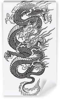 Fotomural Estándar Asian Dragon Vector Linework
