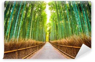 Fotomural Autoadhesivo Bosque de bambú de Kyoto, Japón