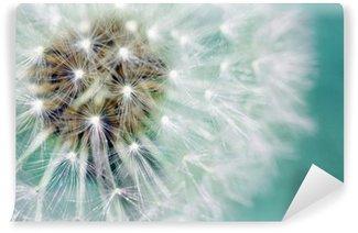 Fotomural Autoadhesivo El diente de león semillas esponjosas sobre azul