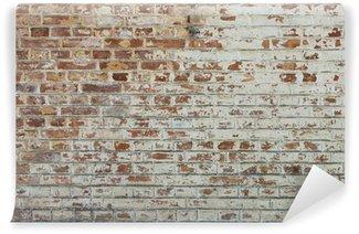 Fotomural Autoadhesivo Fondo de la pared de ladrillo sucio de época antigua con yeso pelado