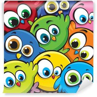 Fotomural Estándar Aves de dibujos animados