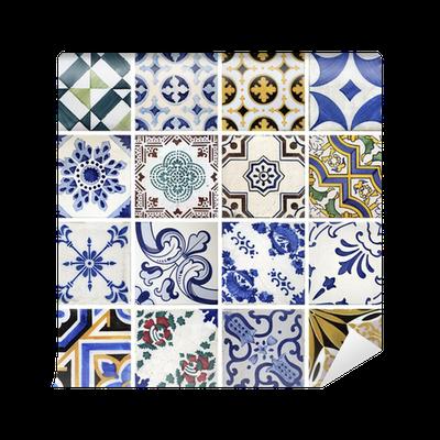Fotomural azulejos tradicionales de porto portugal for Azulejos pvc autoadhesivos