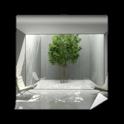 Fotomural blanco m nima dise o para el hogar verde sala for Disenos para el hogar