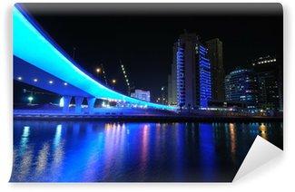 Fotomural Estándar Blue Bridge en Dubai Marina, Emiratos Árabes Unidos