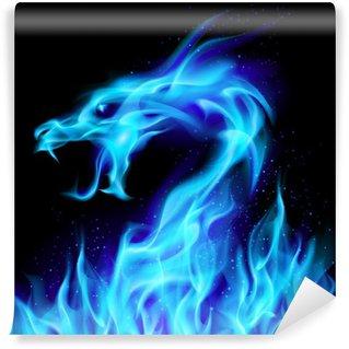 Fotomural Estándar Blue Fire Dragon