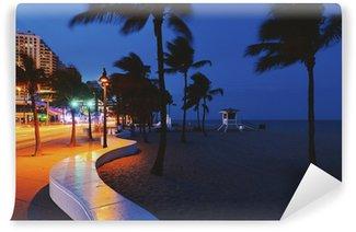 Fotomural Estándar Blvd Fort Lauderdale Beach. por la noche