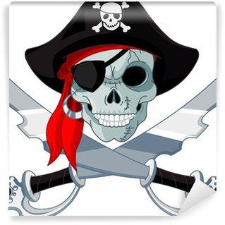 Fotomural Estándar Calavera pirata