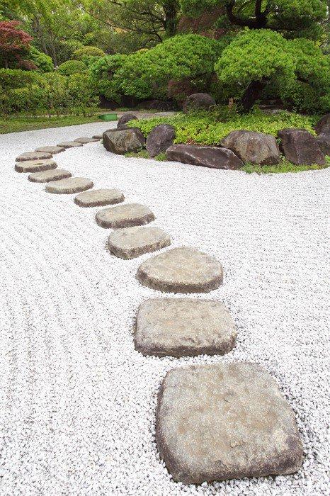 fotomural estndar camino de piedras zen en un jardn japons istaging