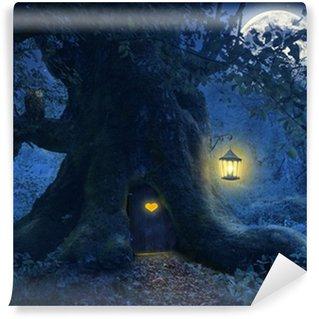 Fotomural Estándar Casa del árbol en el bosque mágico