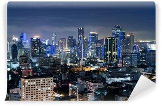 Fotomural Estándar Ciudad en la noche en Bangkok, Tailandia