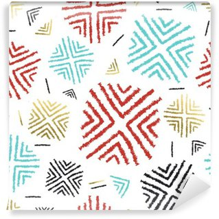 Fotomural Estándar Color de fondo con el arte tribal abstracto