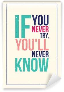 Fotomural Estándar Colorido cartel motivación inspiración. Estilo grunge