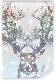 Fotomural Estándar Congelado árbol cuerno de ciervo