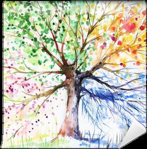 Fotomural Estándar Cuatro estaciones árbol