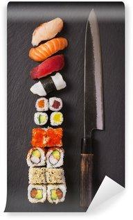 Fotomural Estándar Cuchillo con sushi
