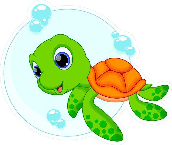 Fotomural estándar de dibujos animados lindo la tortuga