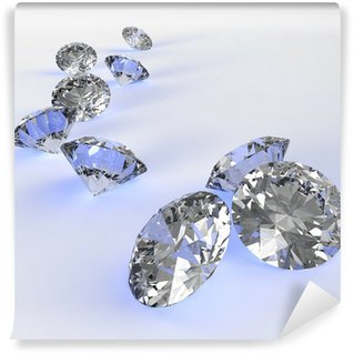 Fotomural Estándar Diamantes 3d en la composición como concepto