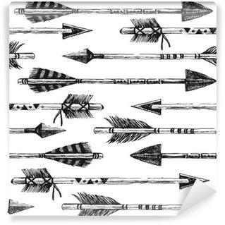 Fotomural Estándar Dibujado a mano sin patrón, con las flechas