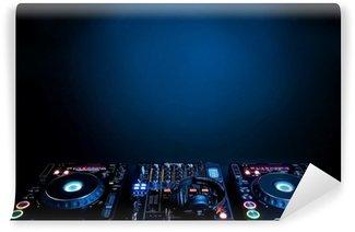 Fotomural Estándar DJ tocadiscos y un mezclador electrónico