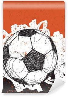 Fotomural Estándar El balón de fútbol de fondo