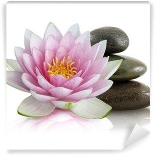 Fotomural Estándar Flor de loto et galets zen