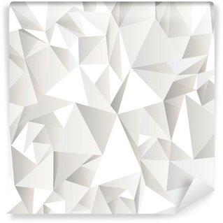 Fotomural Estándar Fondo abstracto blanco arrugado